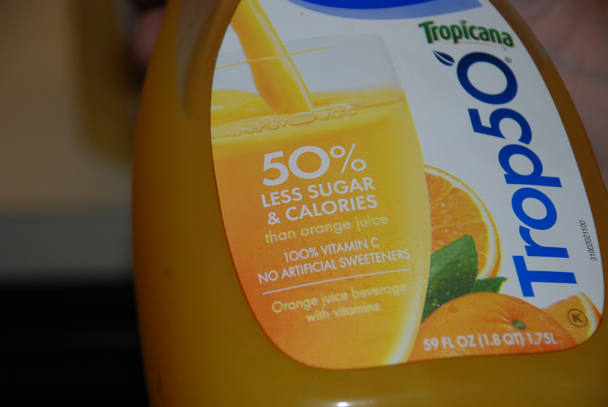 Trop 50 is 50% less sugar. Being a sugar addict, this is a revolting thought! (and taste)