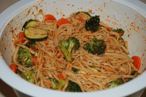 Linguini Salad finished