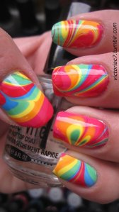 Tie Dyed Fingernails