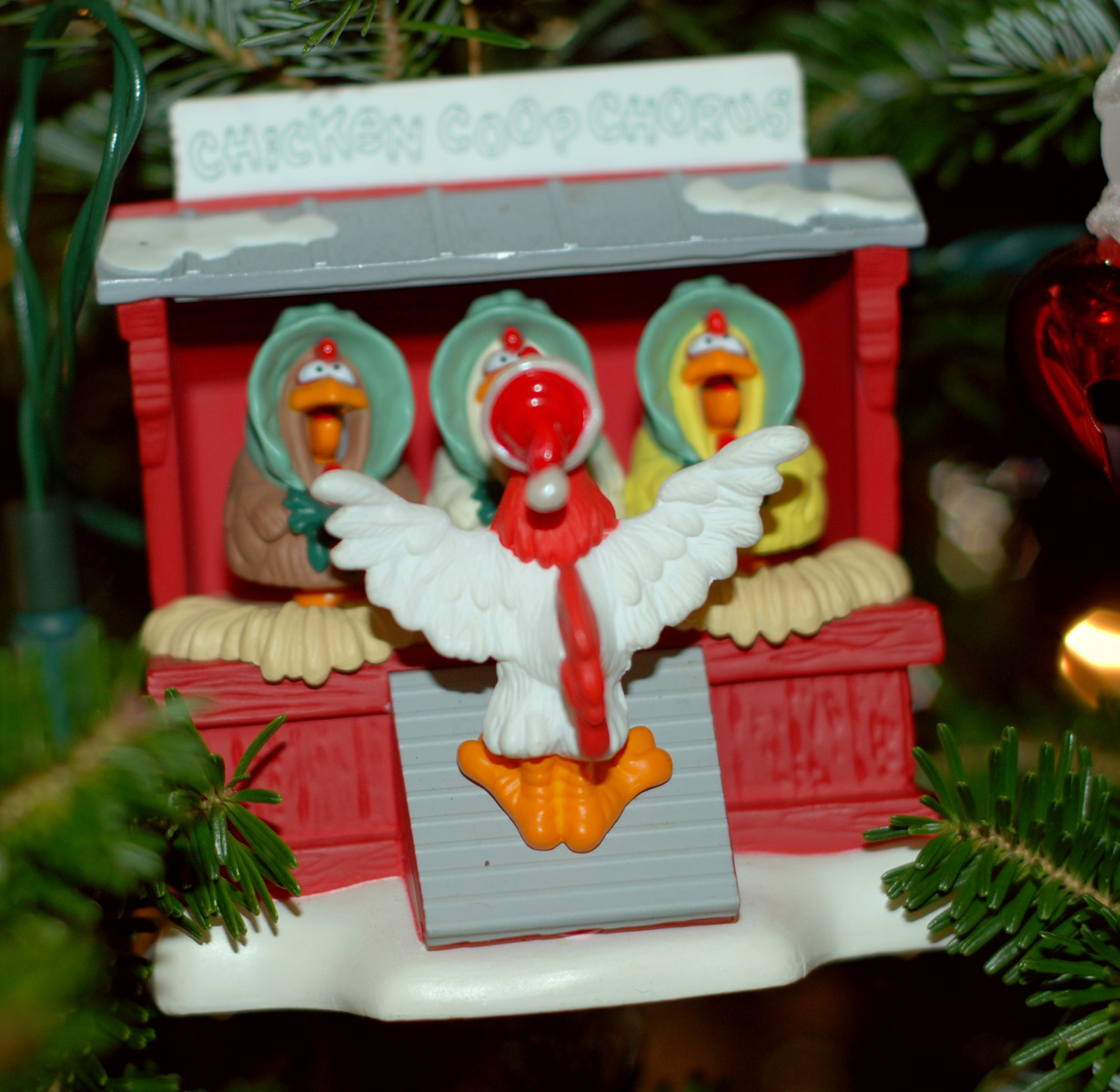 Chicken christmas ornaments - Chip S Family Used To Raise Chickens