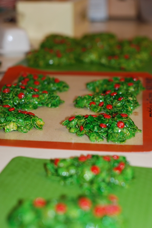 Cornflake Christmas Trees