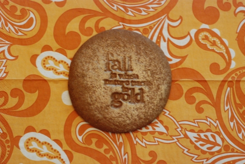 stamped cookie that has been rubbed with pearl dust mixed with vanilla