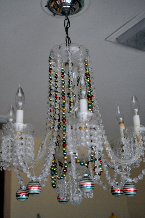 Here is a picture of the whole chandelier without the blinding lights.