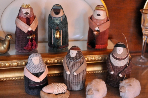 My special nativity, hand-made by special hands.