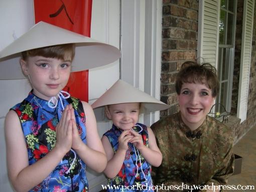 girls with hats via Pork Chop Tuesday