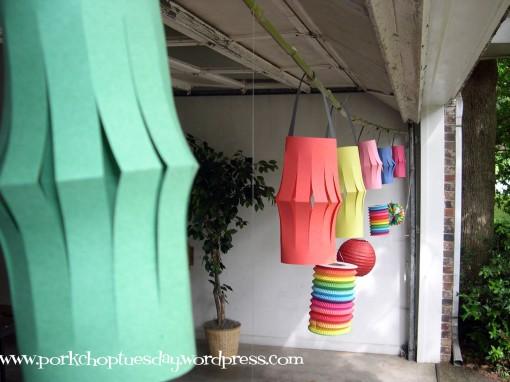 paper lanterns via Pork Chop Tuesday