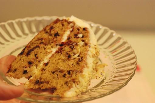 slice of beet cake