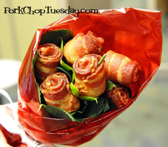 bacon roses