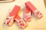 Dipped Valentine Cookies