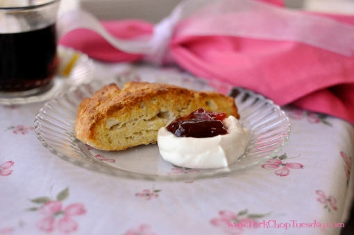 Scones with clotted cream | Pork Chop Tuesday