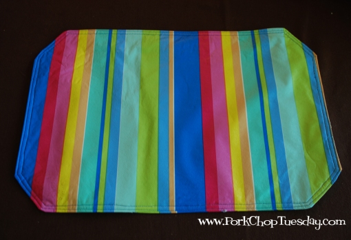 Striped placemat