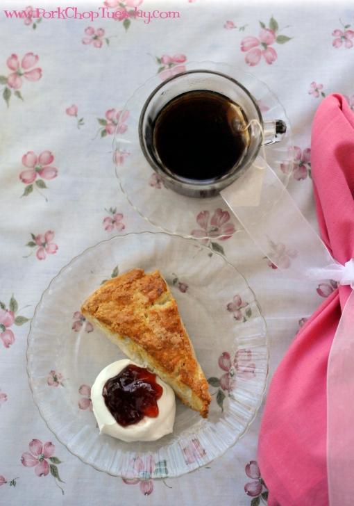tea on vintage linens | Pork Chop Tuesday