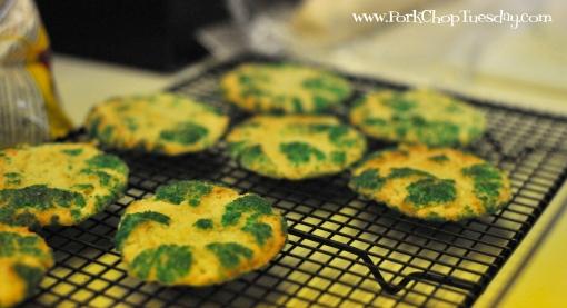 cookies with green sugar | Pork Chop Tuesday