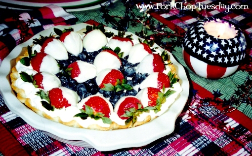 Red White and Blueberry Pie 1