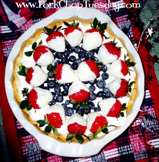 Red White and Blueberry Pie