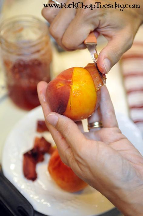 removing peach skin
