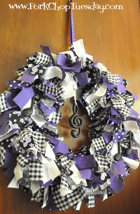 music themed spirit wreath