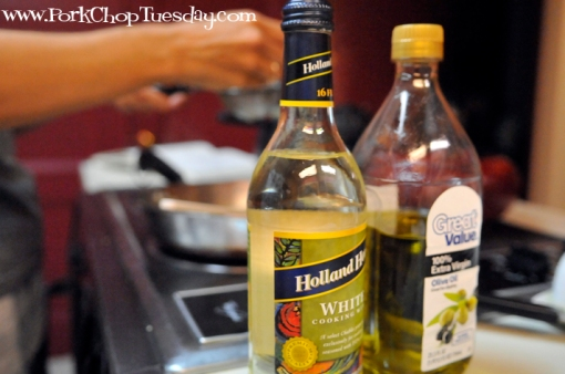 olive oil and wine
