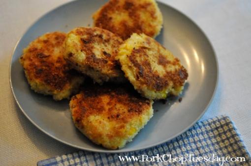 Corn and Bacon Potato Patties