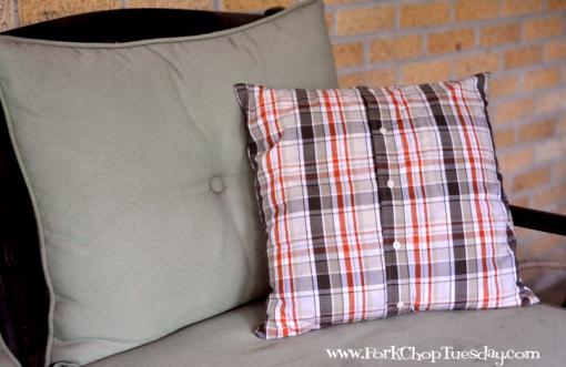 Pillowcase from a man's shirt