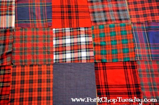 arrange the quilt squares