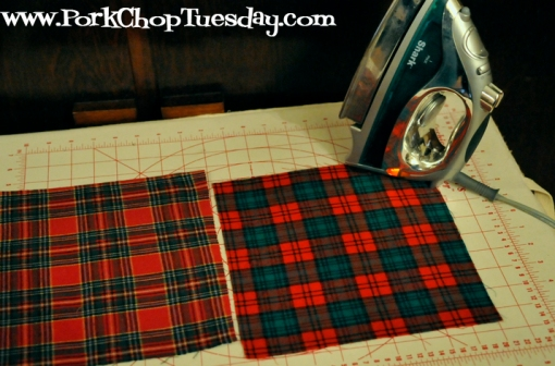 ironing quilt pieces