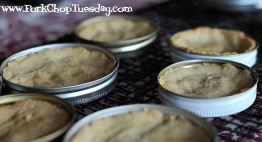 individual pie pans from canning lids