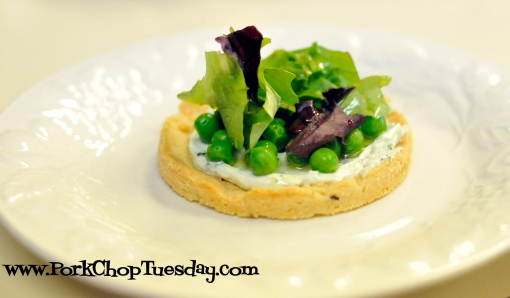 Spring tart with herbed goat cheese