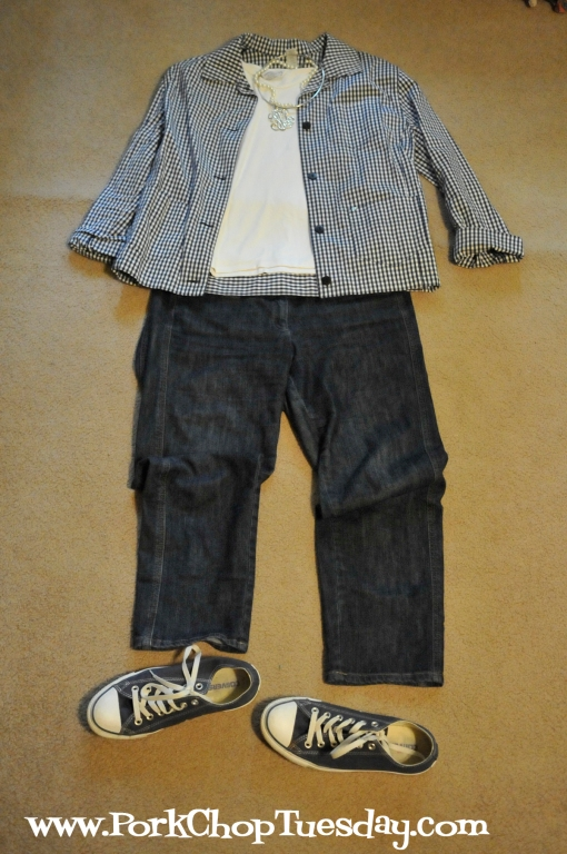 gingham jacket with converse