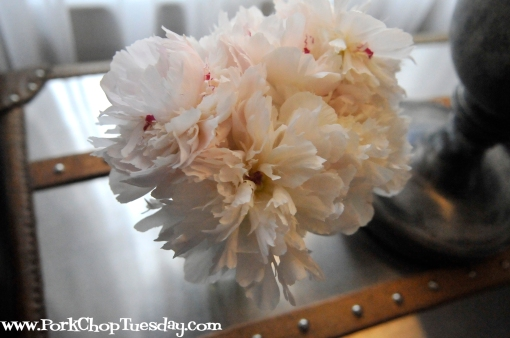 peonies in the guest room