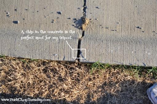 chipped concrete