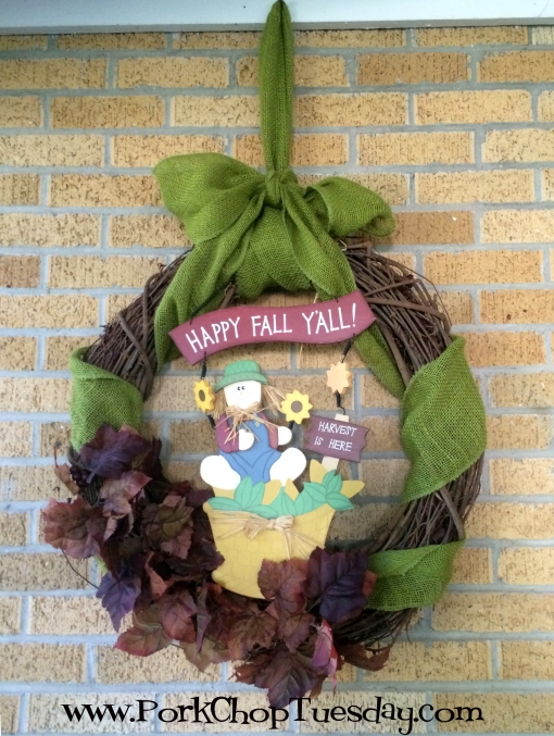 Happy Fall y'all wreath