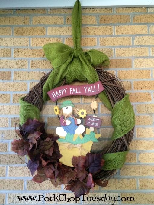 Happy Fall y'all wreath