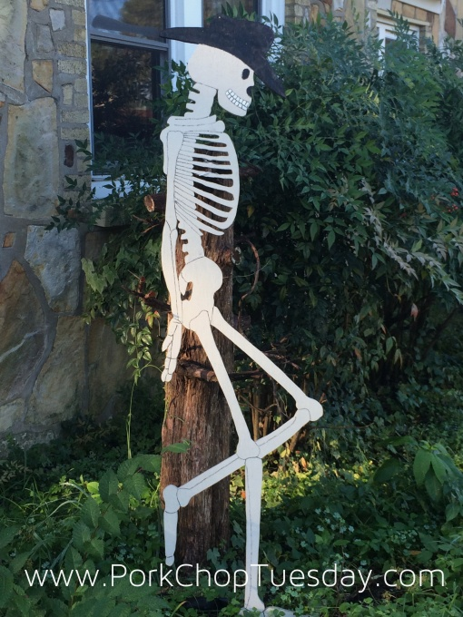skeleton cutout