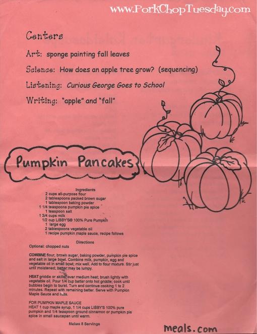 Pumpkin Pancakes with Pumpkin Maple Sauce