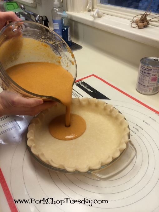 filling the pie shell