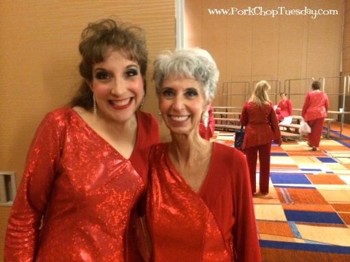 red costumes