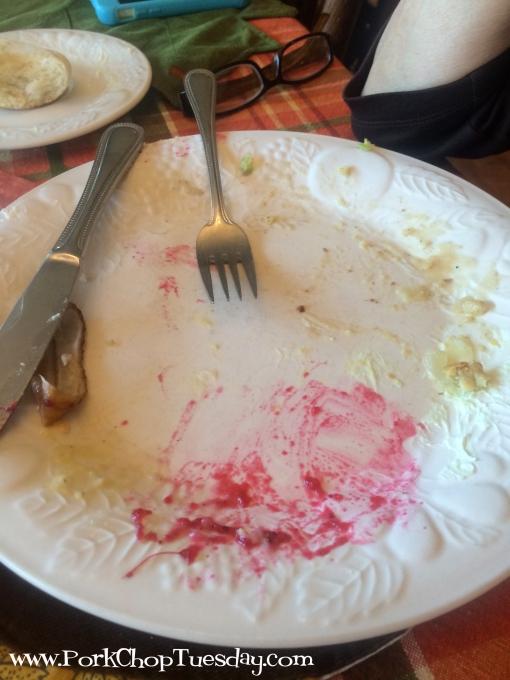 empty dinner plate