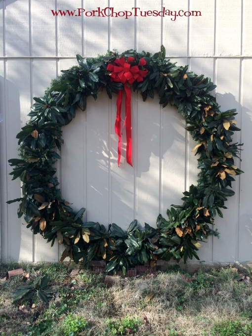 huge outdoor wreath