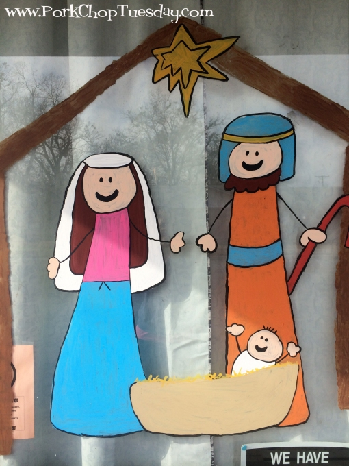 nativity window
