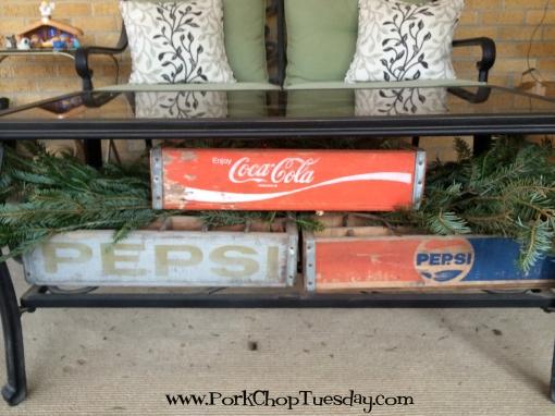 vintage Coke crates