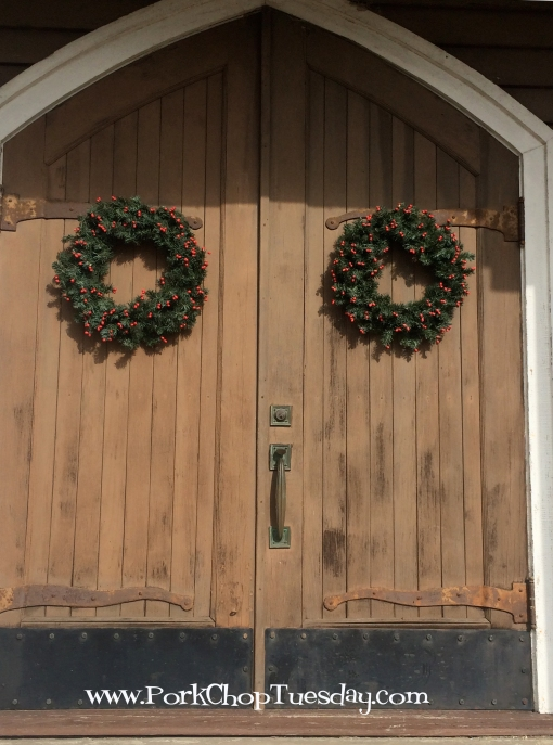 wreaths on church doors