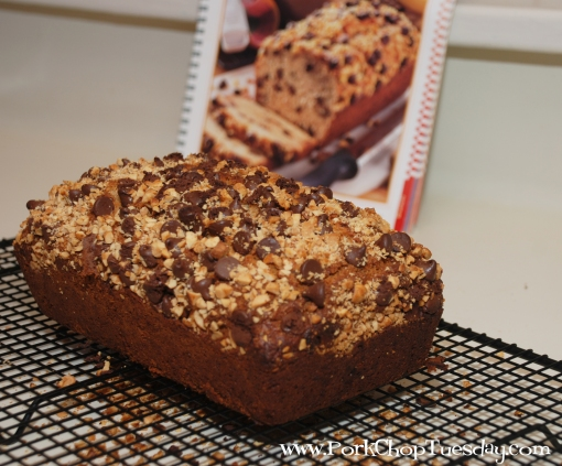 Peanut Butter Chocolate Chip Banana Bread!