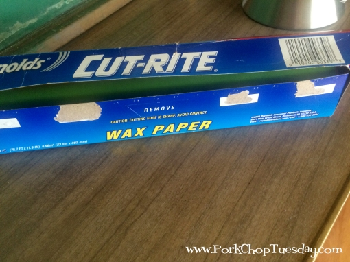 recycled wax paper box