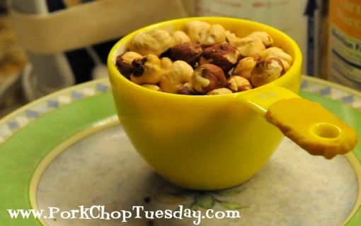 cup of hazelnuts