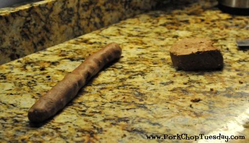 roll dough into logs