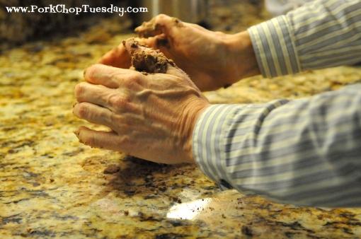 work dough into a ball