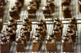 chocolate pomegranate petit fours