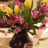 purple and yellow floral arrangement