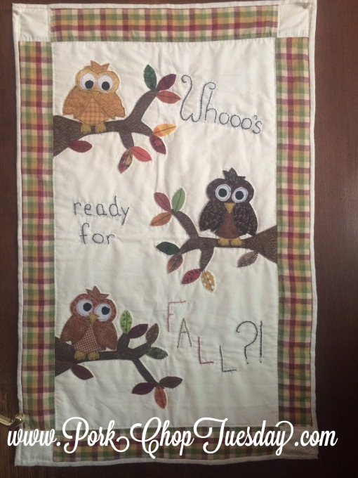 Hootie wall hanging